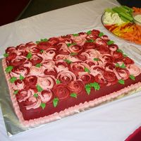 Red Rose Swirl Cake I made this cake for a retirement party... one of two cakes. I think the technique is a keeper! Definitely different.