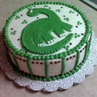 Little Boy's Dinosaur Cake This was a birthday cake for a little boy. I thought it was cute.