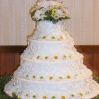 "100_0827.jpg  I made this 4 layer stack cake for my nephews wedding last summer. The base layer was 18"". It was my first wedding cake. I was very..."
