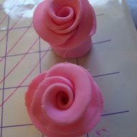 Duff Roses/pink first time making fondant roses. criticism welcome (and wanted) TIA!