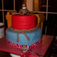Western Cake My version of the western/cowboy cake. Inspired by the MANY MANY versions I found here on CC. Bottom tier is french vanilla cake w/vanilla...