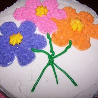 Final Cake Class 1 I was a bit disappointed in the colors, but since we only had an hour to ecorate... I had to just move on. I used someone else's icing...