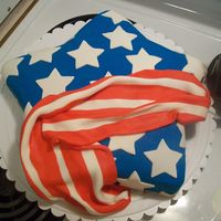 Star Flag This is my version of a cake that I have always wanted to do from Wilton.com. It is a yellow cake, baked in Wilton's star pan, covered...