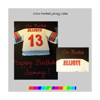 Osu Jersey WASC cake with BC icing...This was for a boy who turned 13, so that's the number we used for the jersey. Elliott is his last name. He...