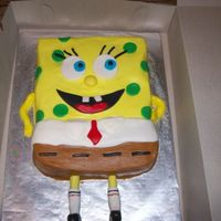 Spongebob And Patrick Cakes   Made for a little boy's 4th birthday. White and Chocolate WASC with buttercream frosting.