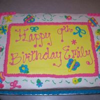 Girl 9Th Birthday Cake   White and Chocolate WASC Cake with buttercream frosting.