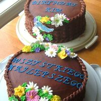 Cakes_054Crop.jpg Birthday cakes. One for a neighbour, one for a co-worker (Polish)