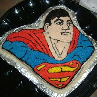 Superman Superman cake for neighbours' 6 year old son.