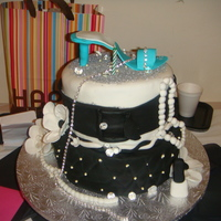 Black/white Birthday Cake