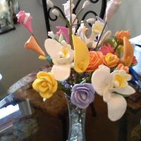 Sugar Flowers Gumpaste Flowers I made for my First Lady at my Church for her Appreciation Day May 2, 2010