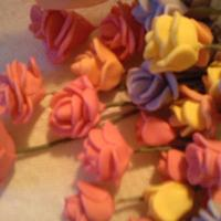 Rose And Calla Lilly Gum Paste flowers I made with no help first time 02/2010