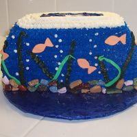 3-D Fishbowl This is my second cake. It is all the dreaded star tip (I really hate that tip after this!). I used fondant for the seaweed and fishes,but...