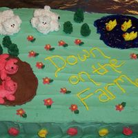 Down On The Farm This is my first attempt at BC decorating. The figures were much harder than I expected! The frosting was not supposed to be smotth so it...