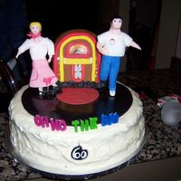 Hoppin 50's Cake   Jukebox-LED lights, Album, Sock hop dancers