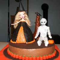Halloween Birthday Cake Made for my neighbor's grandkids