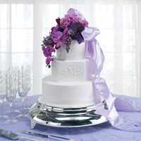 Monogram - Lavendar Flowers Hi sugar friends -BloomNet floral book cake # 5. I LOVED this cake.... loved the shape and the shades of flowers with the silver plateau....