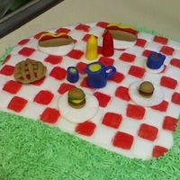 Picnic Cake. Buttercream... all accents made of fondant