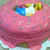 Homer Birthday Cake All buttercream, except Homer is MMF. I should have taken my time, maybe it would have turened out better then. But I was in a hurry....