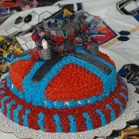 Transformer Cake   My son's 5th Birthday Cake