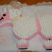 Poodle Cake   Poodle Cake for my daughters 1st Birthday!