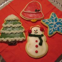 Christmas Cookies These were fun and sparkly. The cookies were very 3D and the noses of the snowman stood straight up. They were difficult to stack, but with...