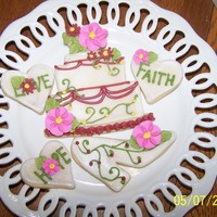 Wedding Shower Cake Cookie NFSC with lots of pretty sparkles and flowers. Thanks for all the great ideas on CC.