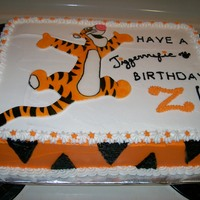 Tigger Cake Tigger is a painted fondant cut-out
