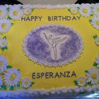 Esperanza's Birthday Cake  Esperanza wanted the yellow of Belle's dress and purple. She studies ballet; daisies are her favorite flower and her grandmother'...