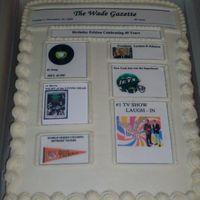 40Th Bday Cake 40th Bday cake, yellow cake, bc icing. Cust. wanted a cake with facts from 1968. Decided to try to make it look like a newspaper. Wade is...