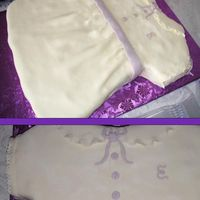 Baby Shower Cake For Girl  I made a chocolate cake (2 layers 8x16 needed) I cut to resemble dress, and then it was iced with buttercream icing. I layered rolled...