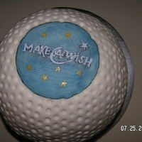 Make A Wish Golf Ball Cake I made this cake for a charity event.