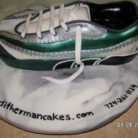 3D Sneaker Shoe Cake I made this cake for the 2010 Pittsburgh Marathon. It is a chocolate cake with chocolate ganache filling, covered with fondant. TFL :)