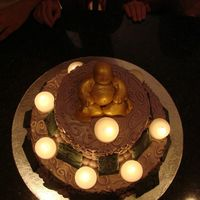 Budah Cake 3 I used tea light for meditation candles