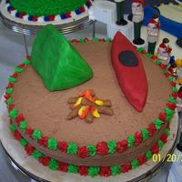 Trail To Eagle 3 this is the Boy Scout step of my son's Trail to Eagle Cake iced with Chocolate Butter Cream and decorated by my husband with hand made...