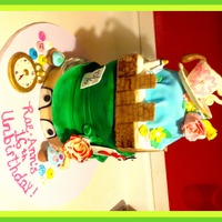 Alice In Wonderland Cake made from a few different cakes pics the customer sent me that she found online.