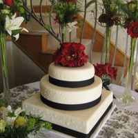 Black/white Wedding Cake