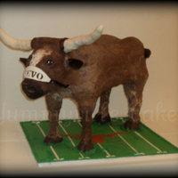 Ut Texas Longhorn Bevo Cake For a groom that insisted on a standing Bevo cake. To top it off, the cake was red velvet!