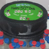 Poker Fondant cards and poker chips