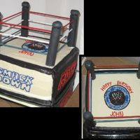 Wwe   WWE cake. Smaller version of a previous one I did