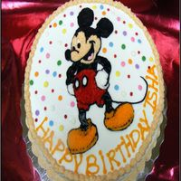 Mickey Mouse For my friends 2 year old...she wanted it colorful..lol..