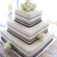 Amanda Vanilla/Chocolate Marble with Chocolate Ganache Filling - Black and White Wedding Color Theme