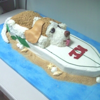 Beagle On A Surfboard! This was created for a groom who loved to surf, his college fraternity theme was worked in as well as a replica of his real dog! Everything...