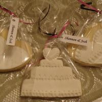 Wedding Shower Cookies Fondant covered sugard cookie cut outs.