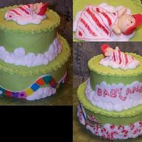 Babyland Candyland Themed Baby Shower Cake Babyland Candyland Themed Baby Shower Cake. Buttercream with fondant accents.