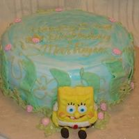 Sponge Bob Cake Fondant covered cake. Painted with foodcolor / vanilla mix. Sponge Bob sculpture out of fondant and gumpaste mix. Edible markers. Royal...