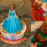 Cinderella 3D Cake Fondant / Gumpaste Figures. Wondermold pan for dress. Buttercream and royal icing accents. I LOVED doing this cake. Thanks for the...