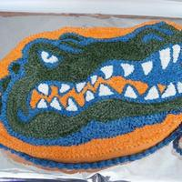 Florida Gator Birthday Cake This cake was for a young girl who was turning 13. Cake is Buttenut with Buttercreme Icing