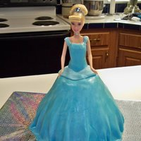 Cinderella This was my first doll cake & was so much fun to make. Cake is vanilla cake stacked & carved to shape. ButterCreme Icing covered...