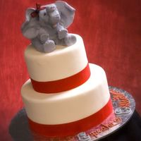 Girl Elephant This is my first cake ever. I am teaching myself as I go. I hope you like my baby. I love her so much I call her Genevieve