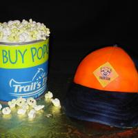 Cub Scouts Made by my son (and a little help by myself) for the cub scouts cake auction. Marshmallow popcorn